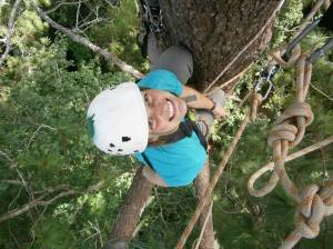 Up a big tree in Cusuco National Park, Honduras